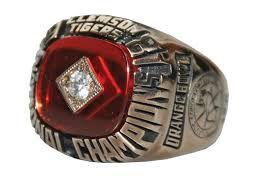 1981 Clemson Tigers' National Championship Ring