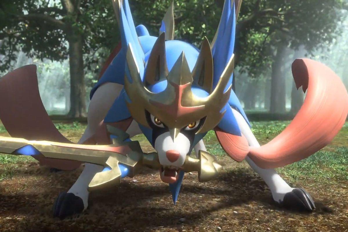 Zacian from Pokémon Sword and Shield