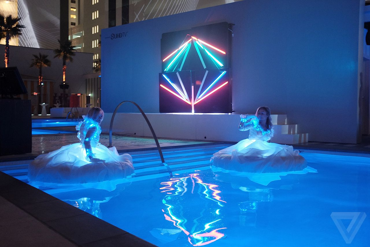 Swimming Pool Convention : Samsung s ces tv event got pretty weird the verge