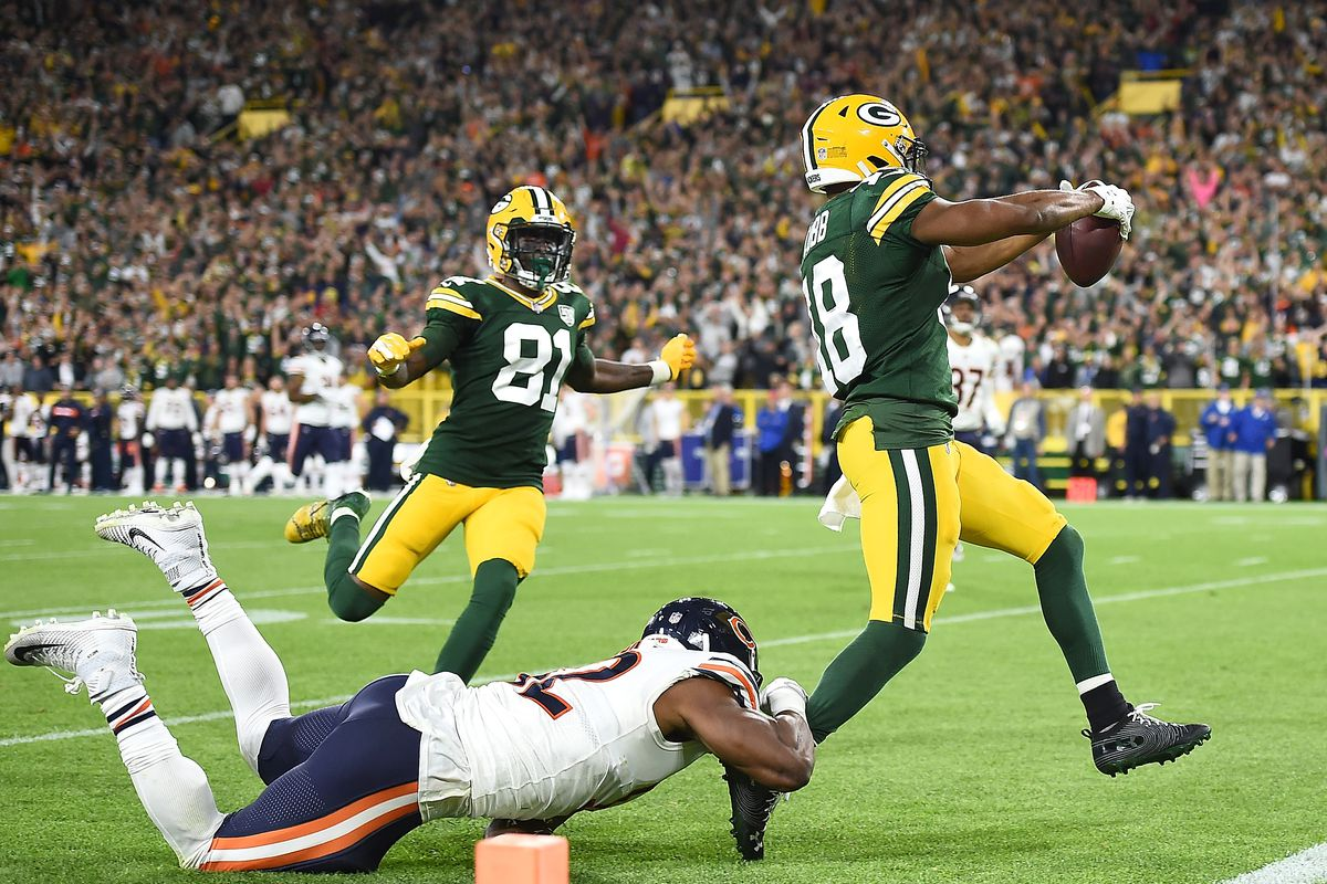 874dcad734d Packers beat Bears in 24-23 thriller after Aaron Rodgers returns from knee  injury
