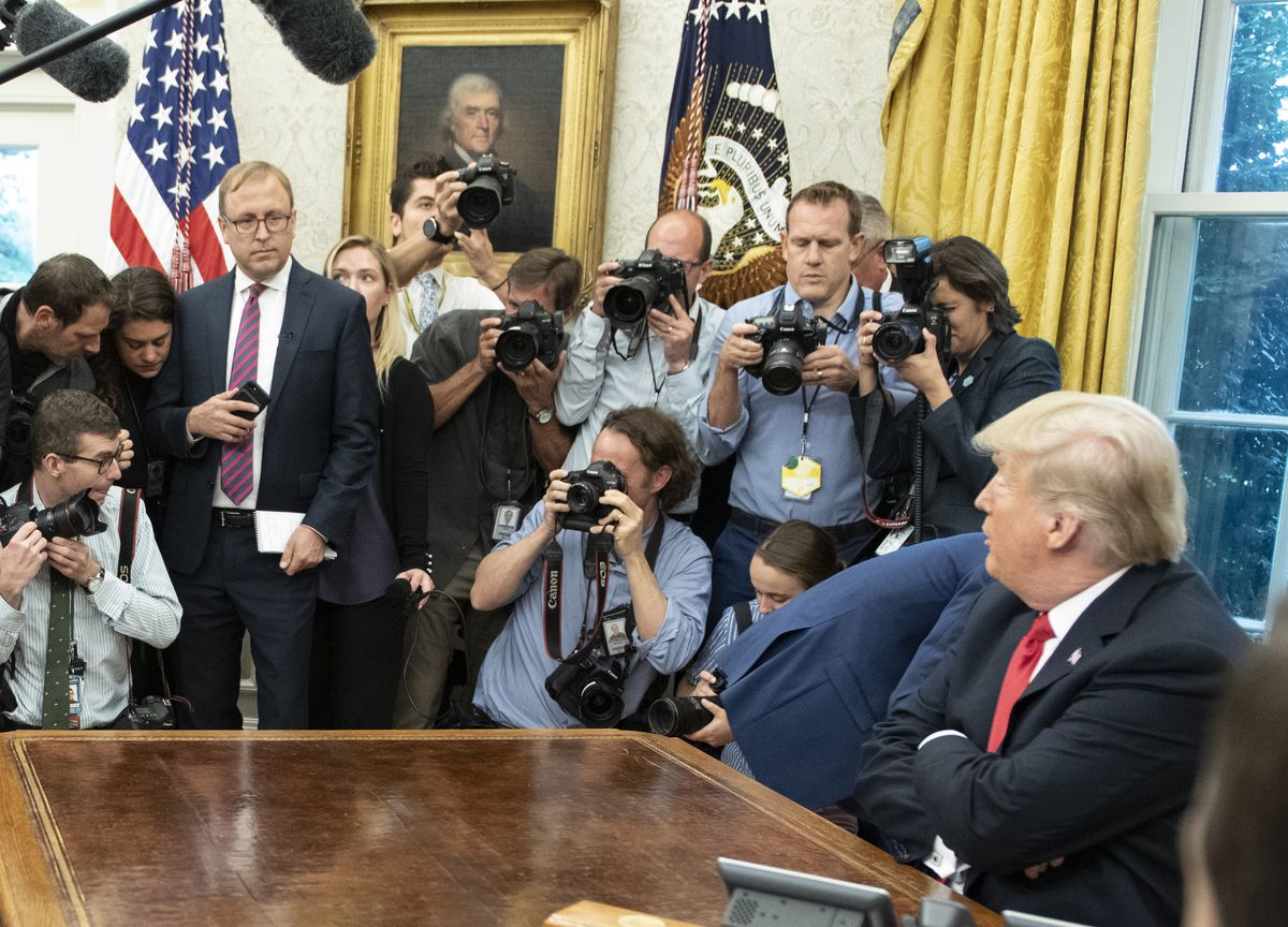 Karl, Trump, & Others In The White House