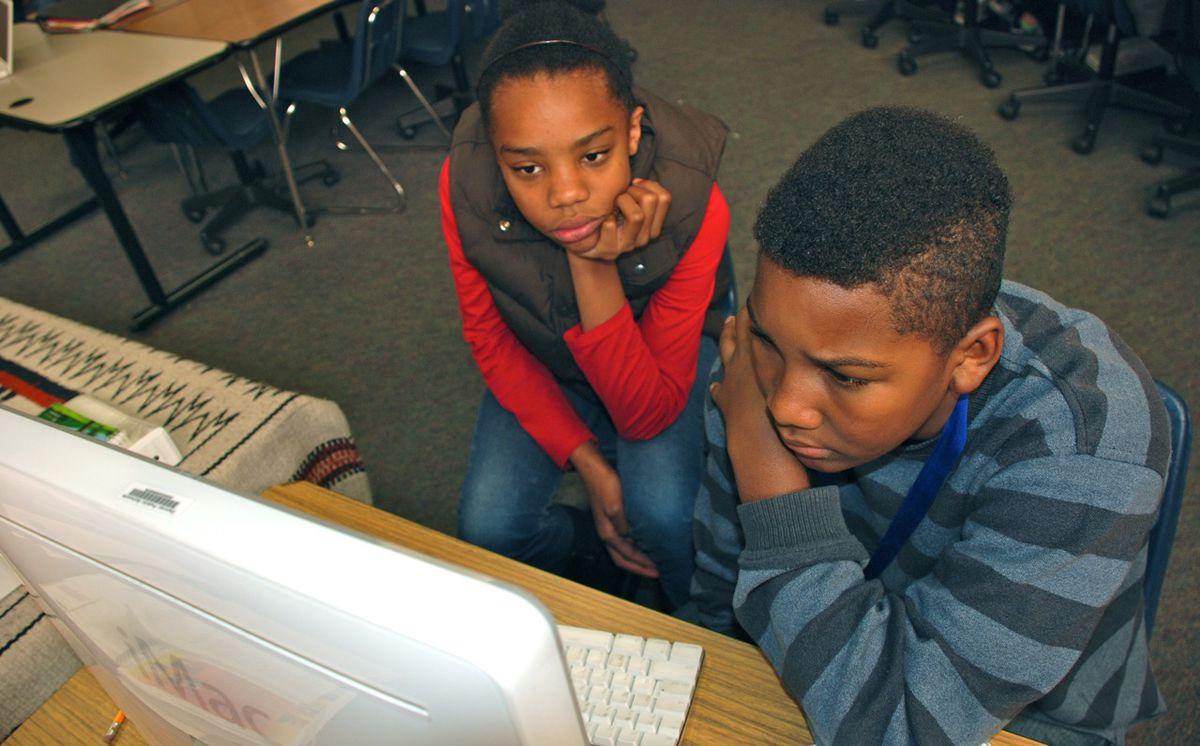 Denver Public Schools' students work in a computer lab in this <em>EdNews</em> file photo.