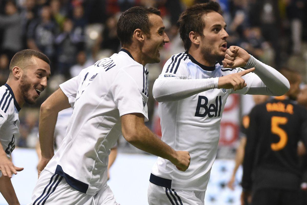 Octavio Rivero celebrates his goal.