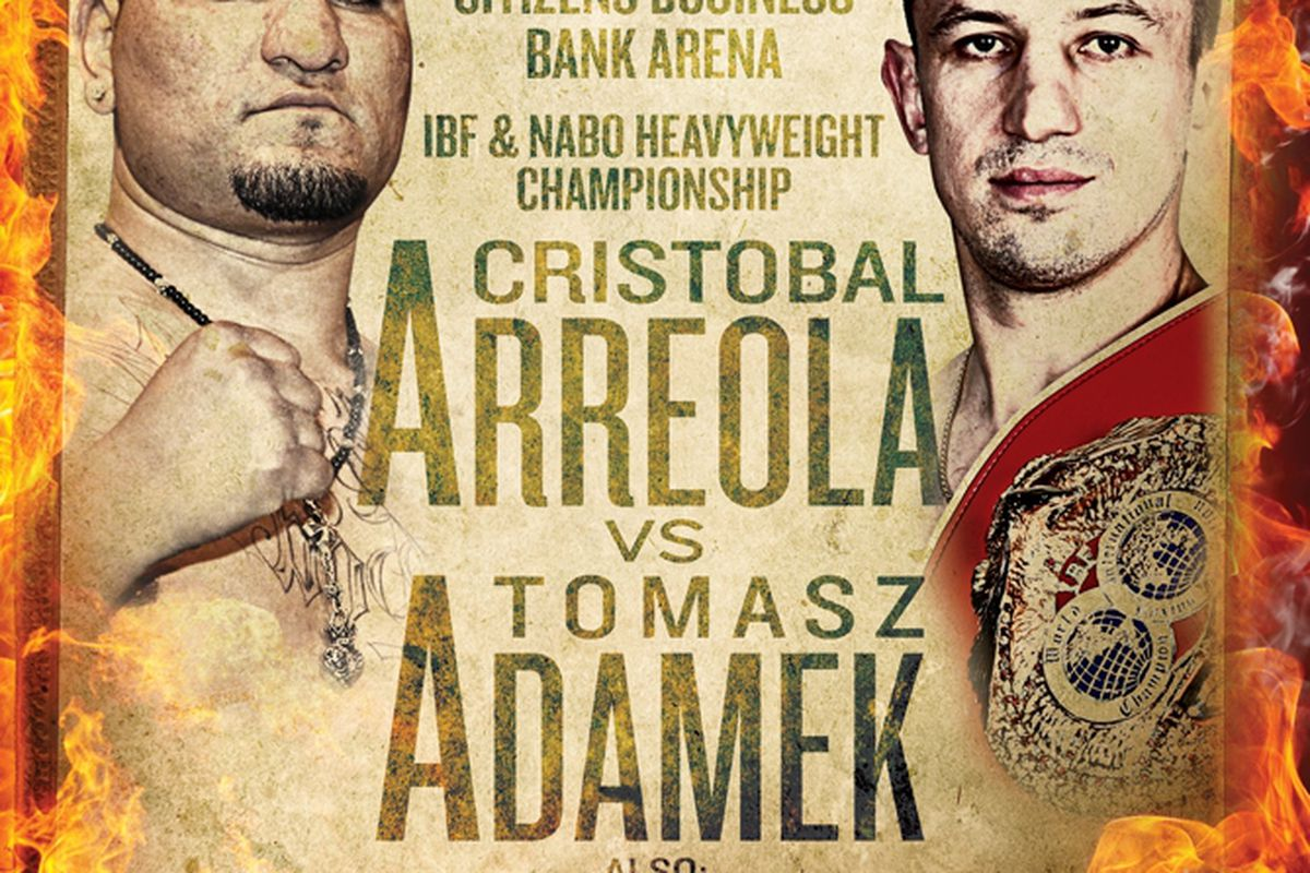 """This is what you get when you let Cris Arreola name the promotion - a boxing match named after a brand of hot sauce.  via <a href=""""http://www.mainevents.com/images/stories/ADAMEKARREOLAPOSTER.JPG"""">www.mainevents.com</a>"""