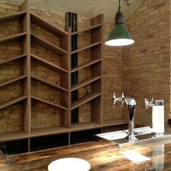 The wine bar will have 3 beers and sparkling wine on tap