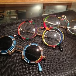 Hand painted deco Dolce Vita glasses from Italy