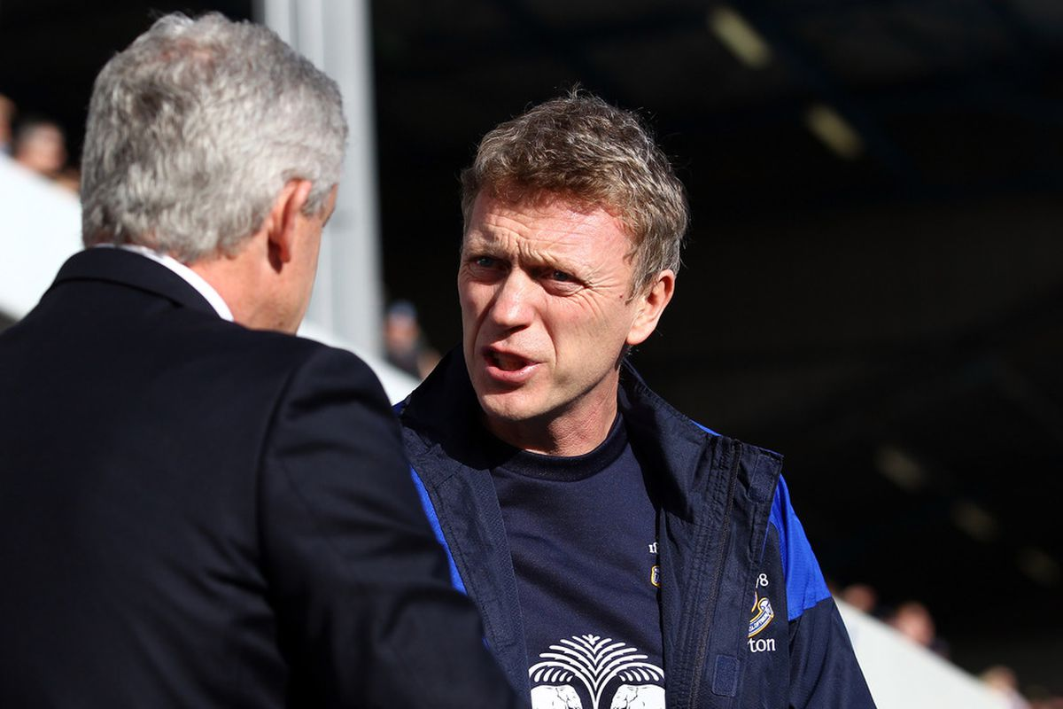 One feels Mark Hughes could learn a thing or two from David Moyes about money management.