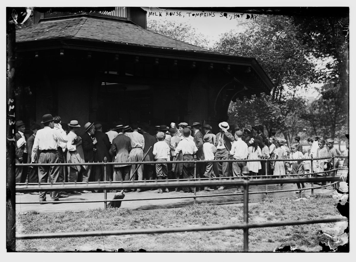A line outside the ... milk house?