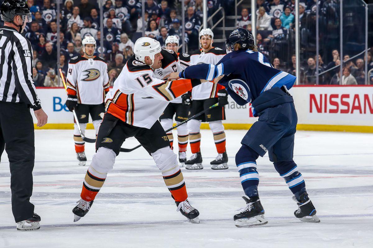 Anaheim Ducks v Winnipeg Jets