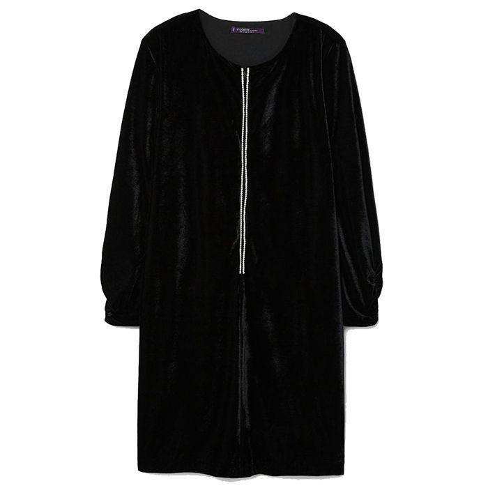 Violeta Plus Crystal Velvet Dress