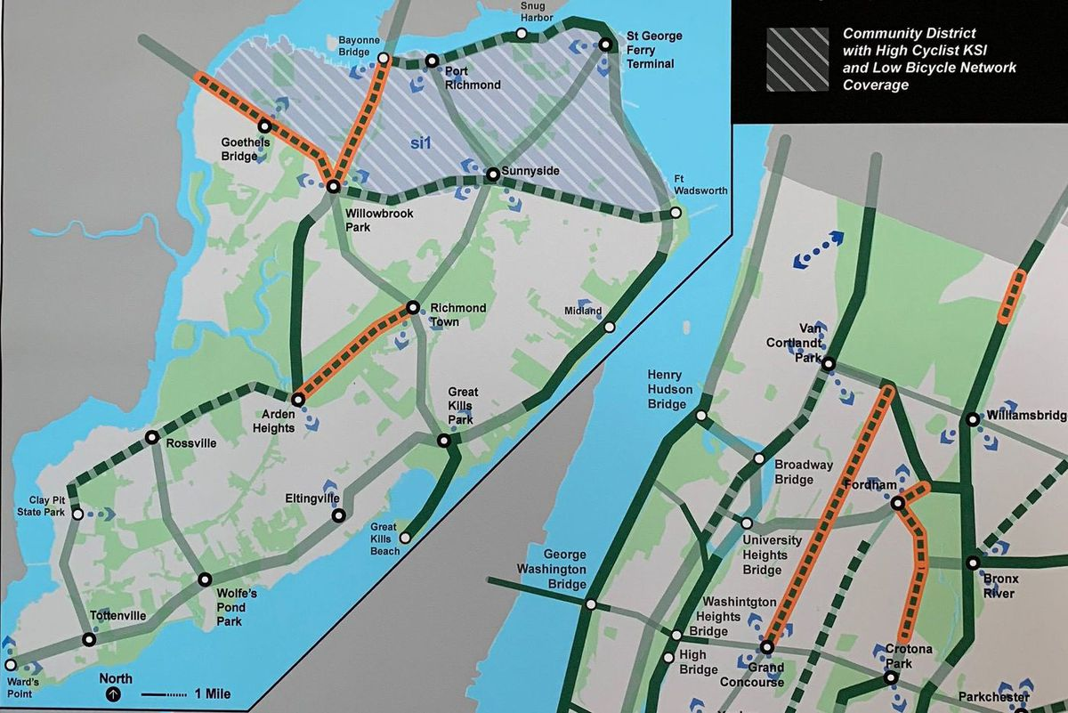 Staten Island Protected Bike Lanes
