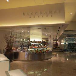 The view as you walk in to Bacchanal Buffet.