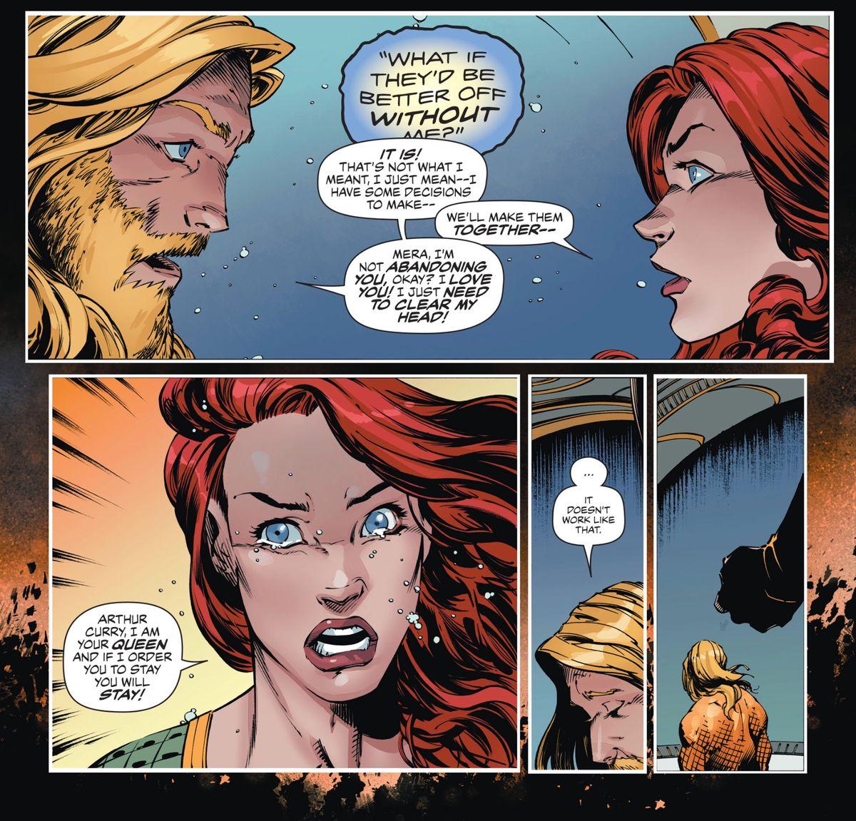 Aquaman and Mera in Aquaman #49, DC Comics 2019.