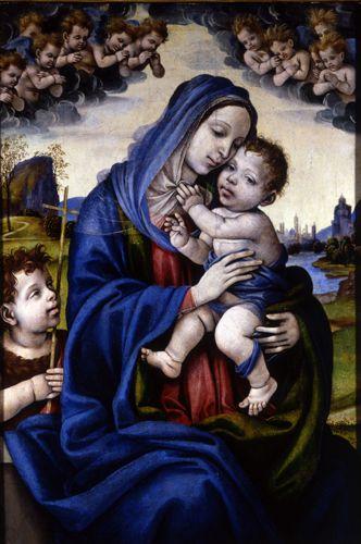 Madonna and Child with Saint John the Baptist, Filippino Lippi, circa 1502-1504