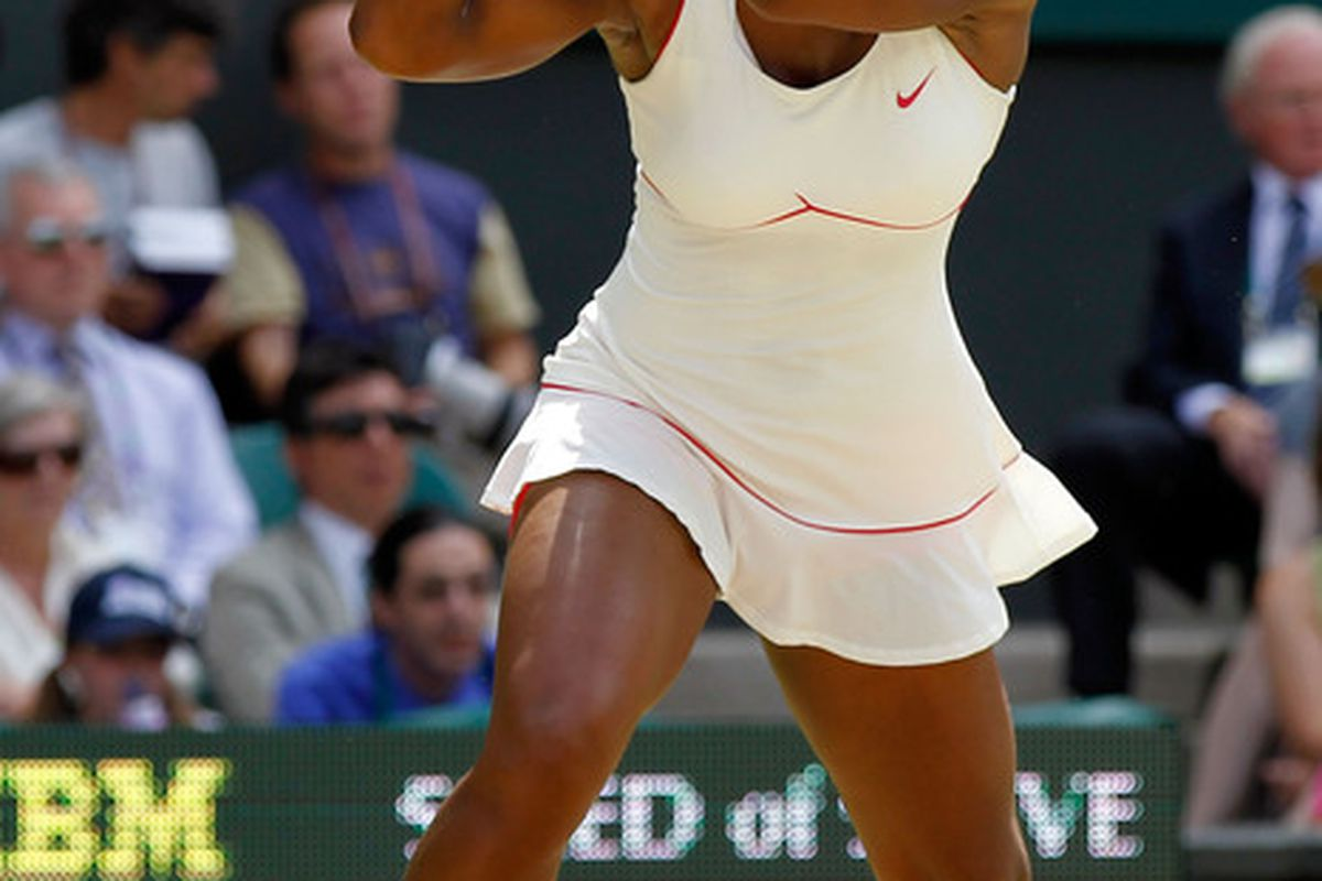 Serena Williams won't likely play tennis again this season, as she's still suffering from foot injuries.  (Photo by Matthew Stockman/Getty Images)