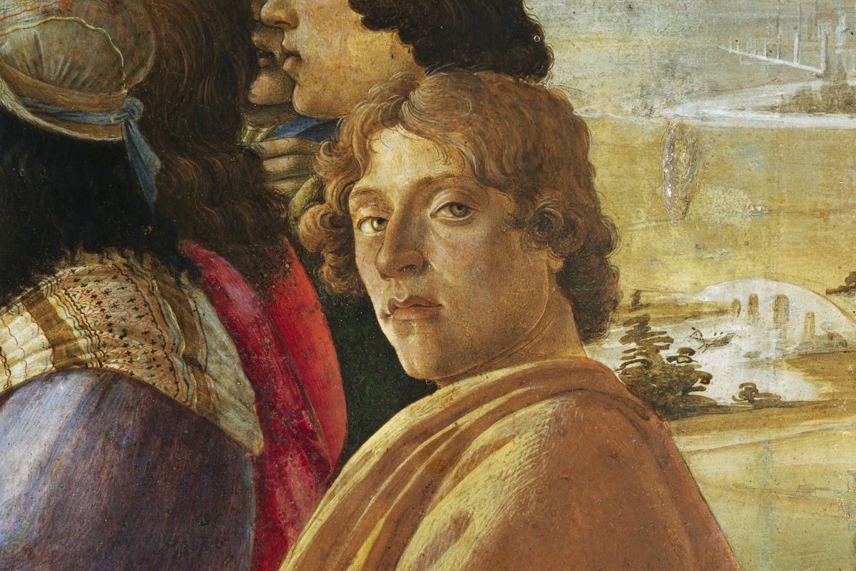 Detail of Self-Portrait from Adoration of the Magi by Sandro Botticelli