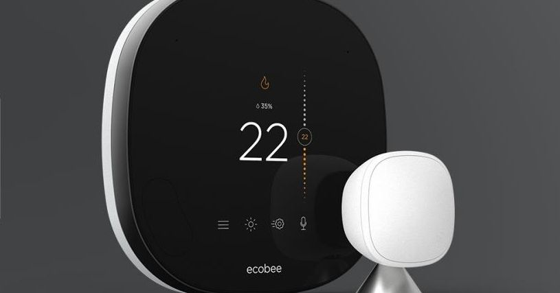 This is Ecobee's new glass-covered smart thermostat
