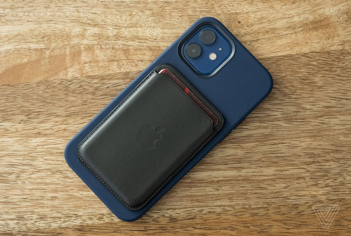 Apple's wallet attachment holds three or so cards, but you need to remove it from the back of the iPhone to easily access them.