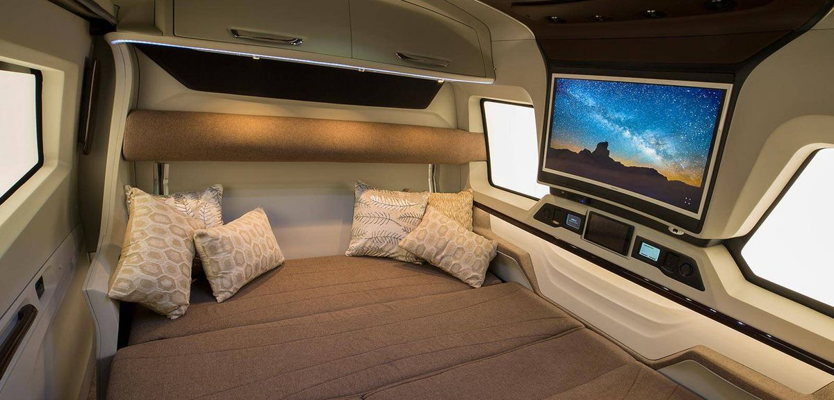 Courtesy Of Pinnacle Specialty Vehicles The Living Room Transforms Into More Sleeping Space