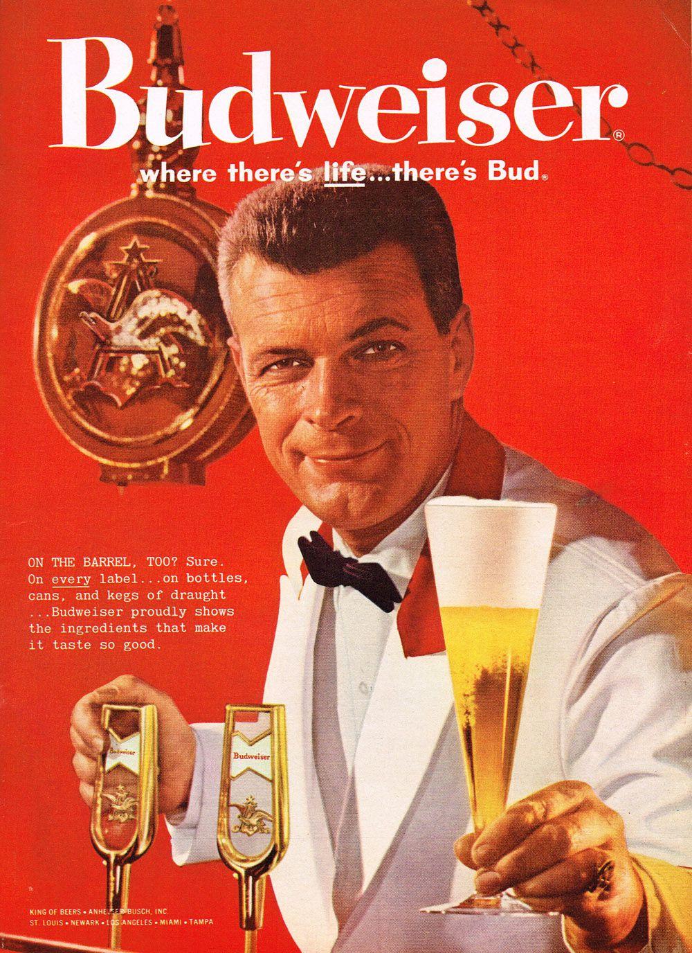 1960 Budweiser Ad.