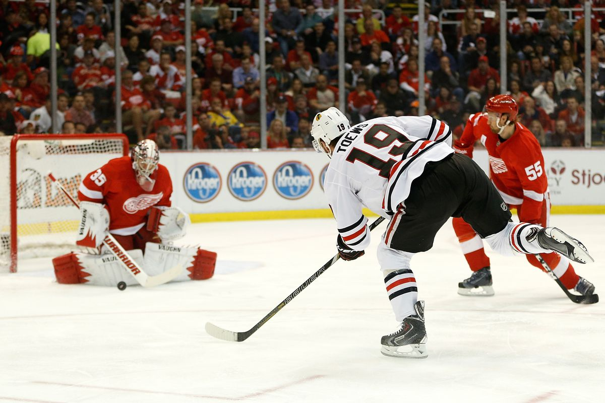 Toews and the Blackhawks can't break through against the Red Wings. Why couldn't the WIld have been so lucky?