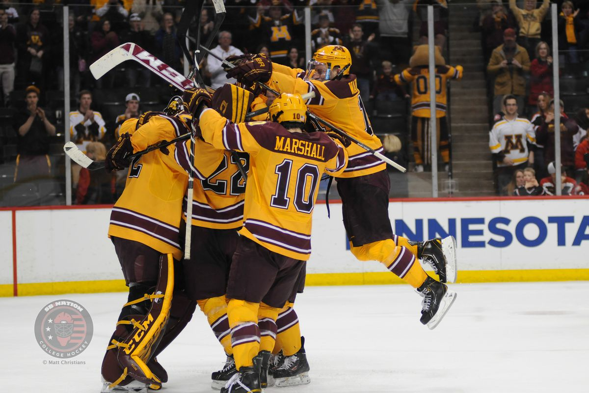 """Minnesota advanced Sunday to the Frozen Four...and a date to resume """"The Rivalry"""""""