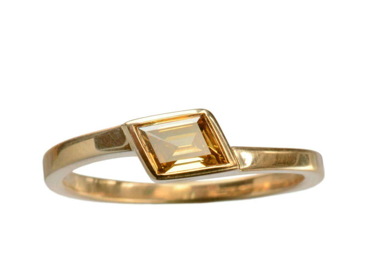 Erie Basin brown diamond ring