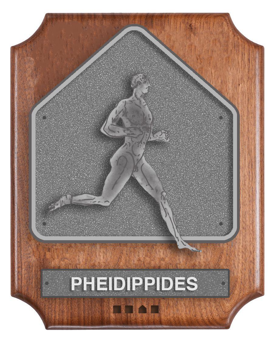 Secret Base Hall of Fame plaque for Pheidippides