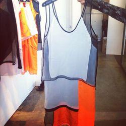 Sunburn chroma drape dress, $435