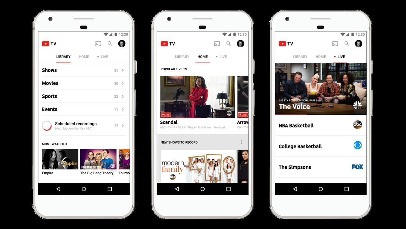 Youtube Tv Regular Tv Over The Internet For 35 Has Arrived Vox