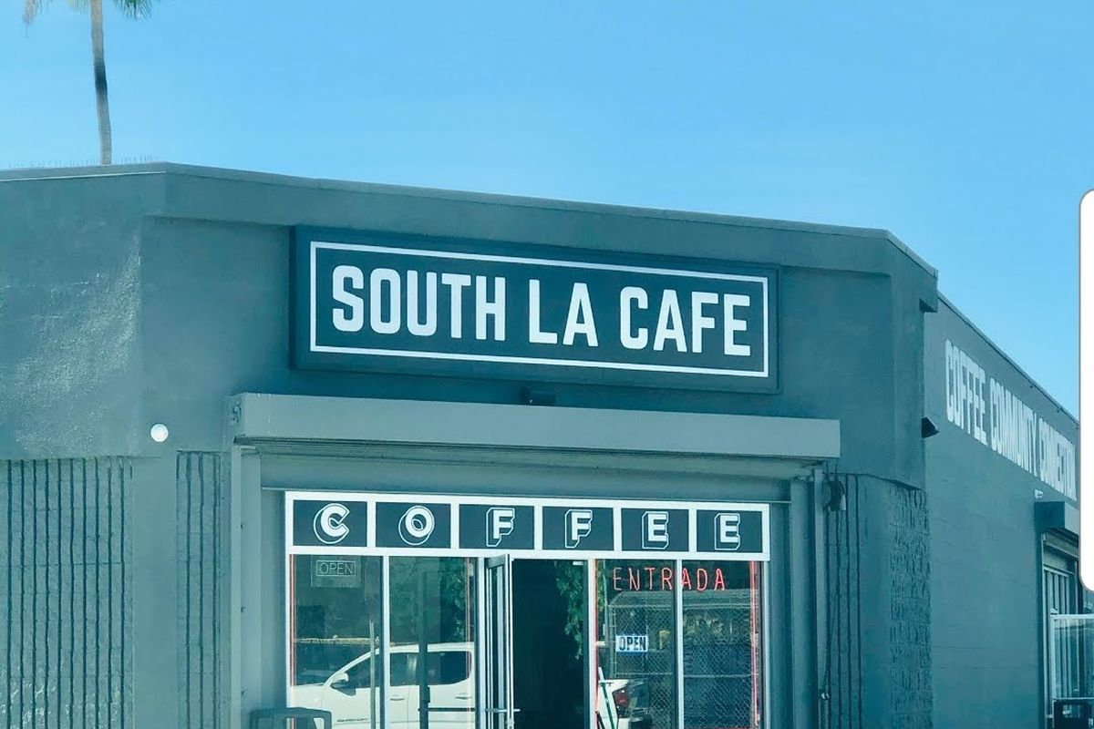 The exterior of South LA Cafe in Exposition Park