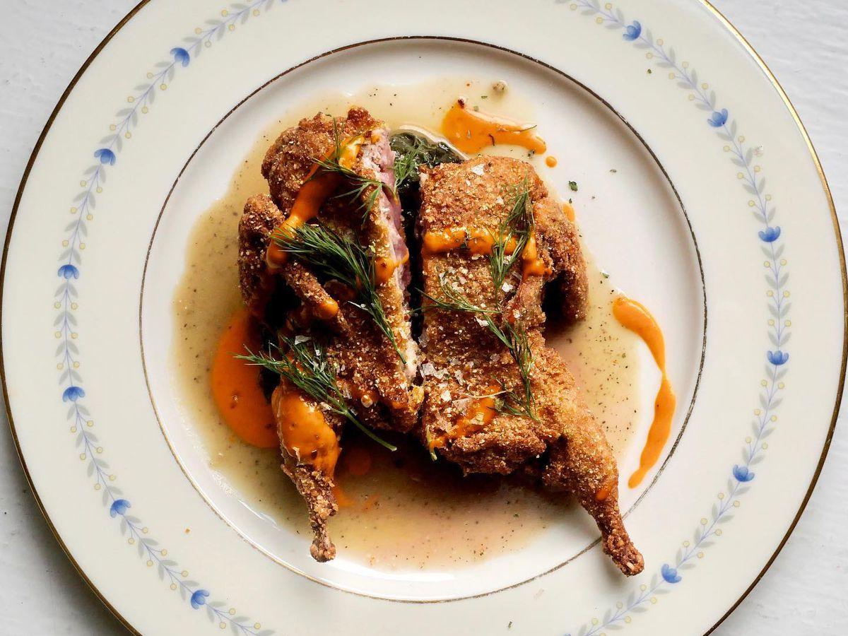 Fried quail at Lenoir