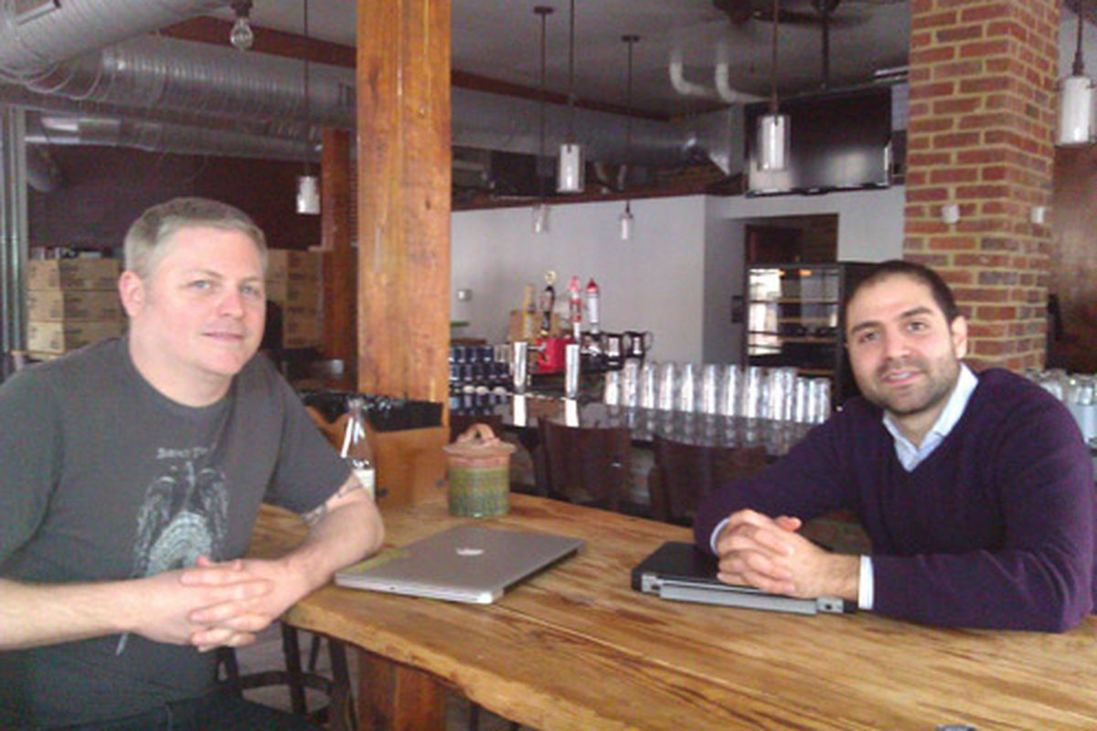 Shaw's Tavern chef Joel Hatton and general manager Reza Akhavan