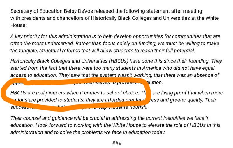 Statement by Betsy DeVos