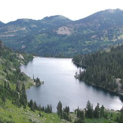 17. Twin Lakes Reservoir is seen from Twin Lakes Pass.