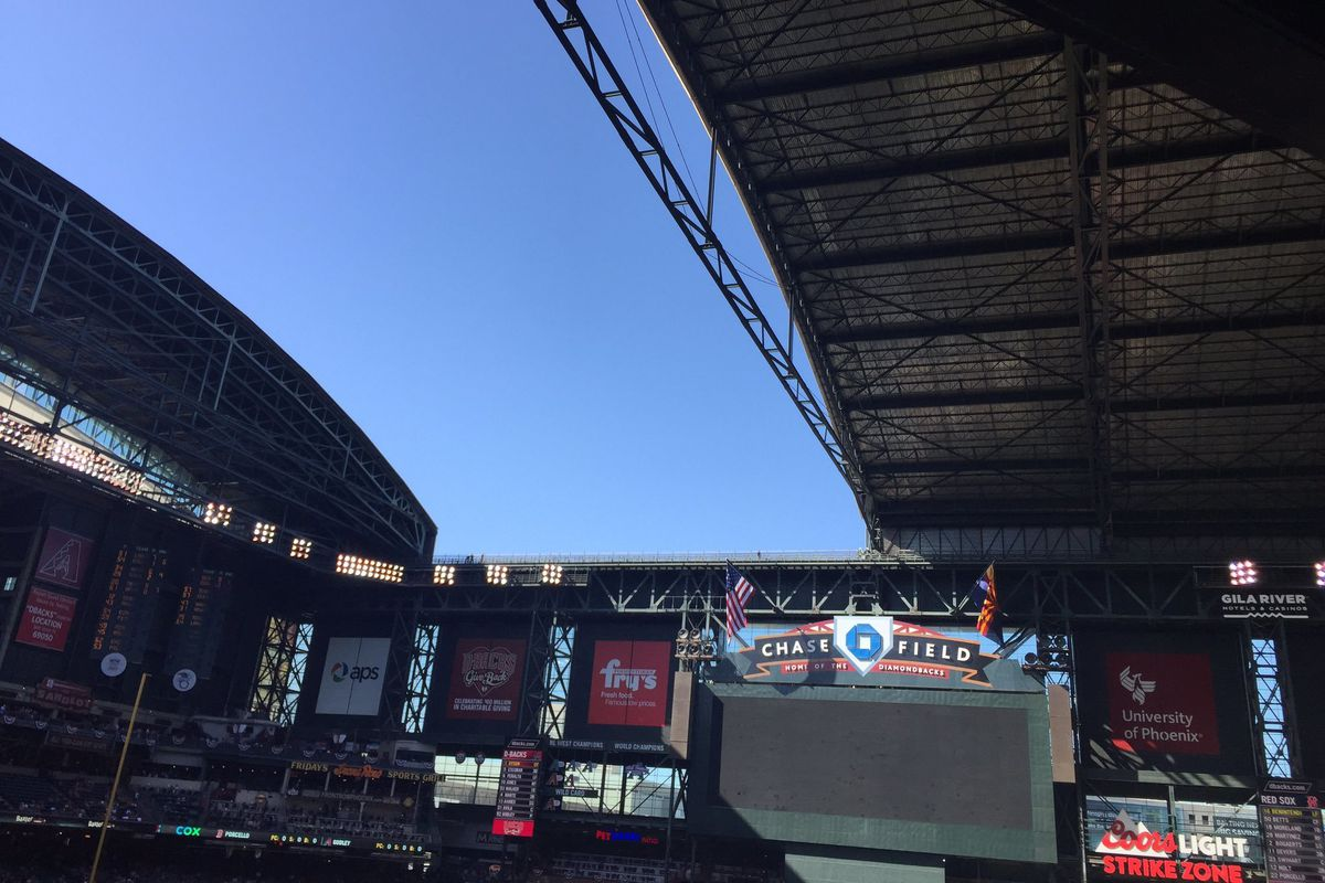 D Backs 15 Red Sox 8 Arizona Blows Roof Off Chase Field