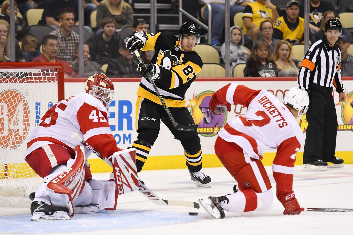 NHL: SEP 25 Preseason - Red Wings at Penguins