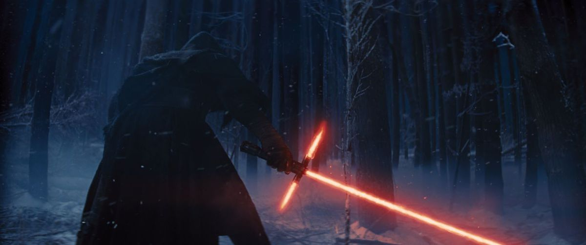 Lightsabers in the snow.