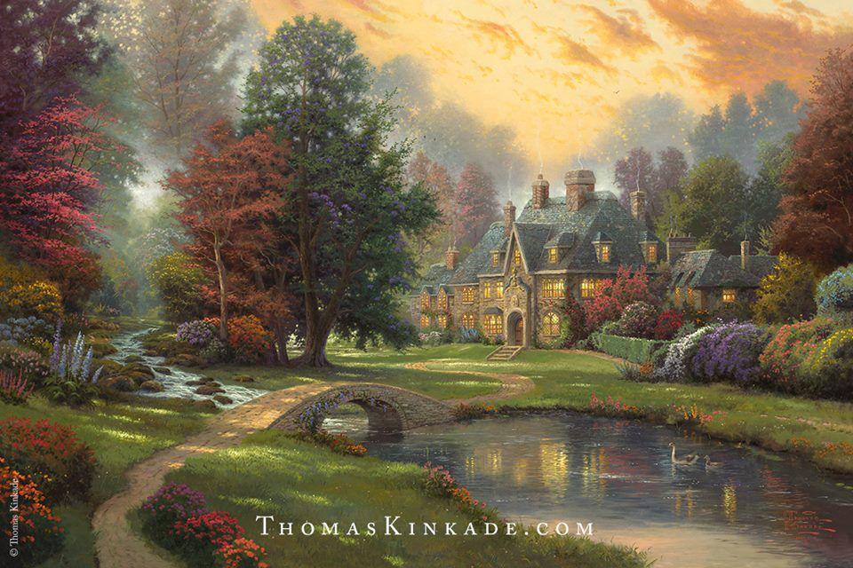One of Thomas Kinkade's paintings