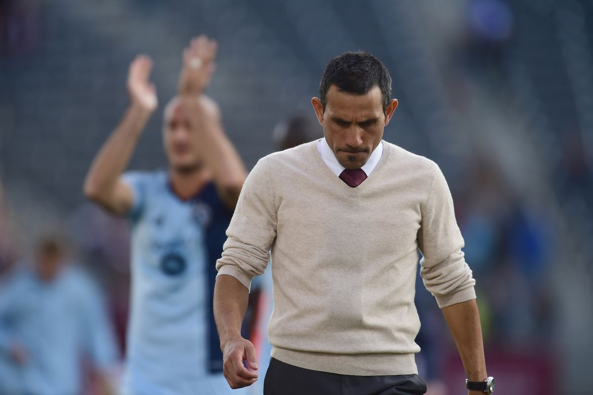 Pablo Mastroeni should have been celebrating a victory, but Aurelien Collin does the honors instead.