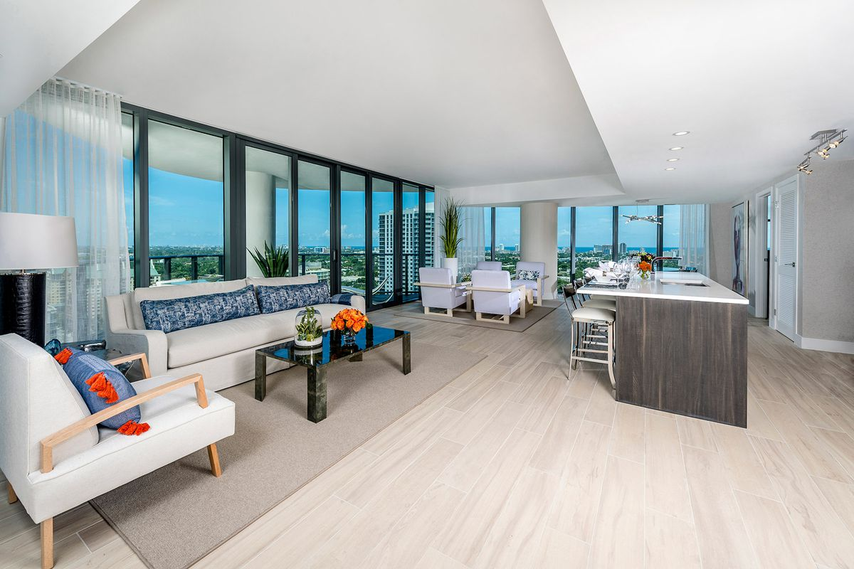 inside the model units at icon las olas fort lauderdale s tallest