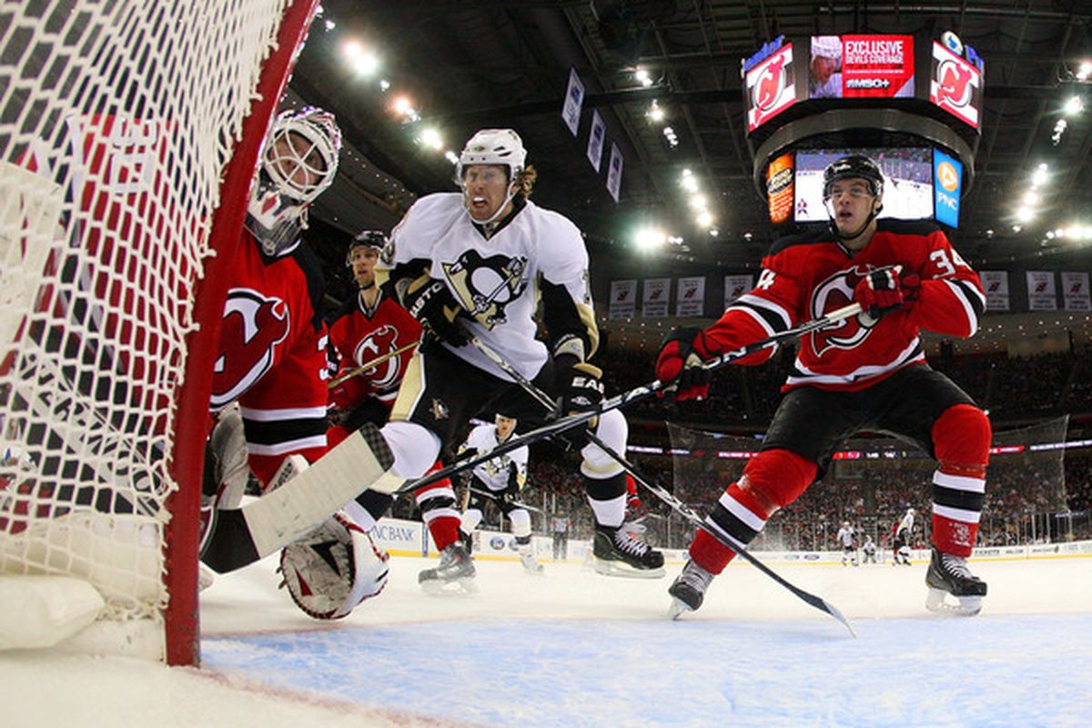 This picture suggests a part of the problem this year for the Devils.