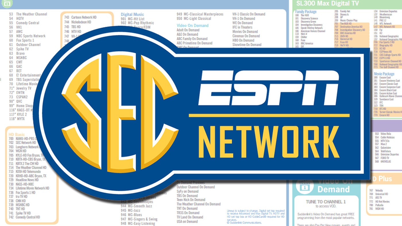 SEC Network Provider Package Requirements and Channel Numbers - Good