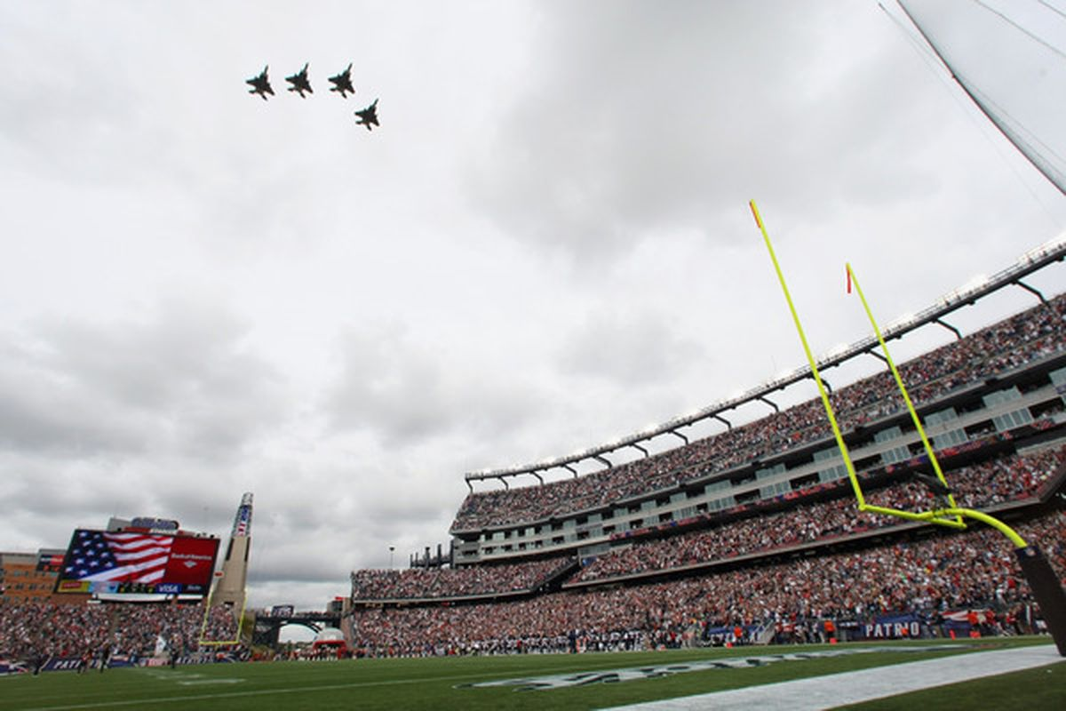 FOXBORO MA - It almost feels like going home again, doesn't it? (Photo by Elsa/Getty Images)