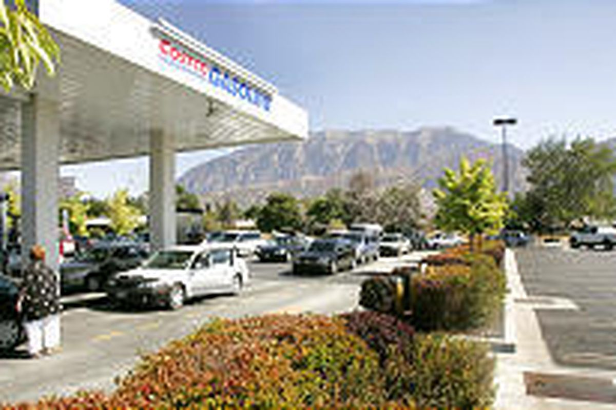 Costco gas lines in Orem have been consistently long since prices jumped to nearly $3 a gallon after Hurricane Katrina.