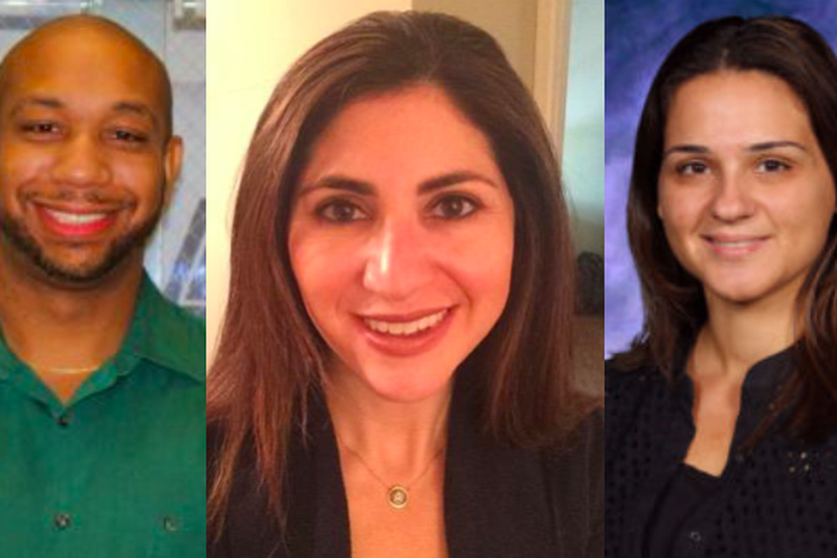 Newark Superintendent Roger León has filled open principal positions for the upcoming year with mostly internal hires. From left: Kyle Brown, Amy Panitch, and Rose Monteiro-Inacio.