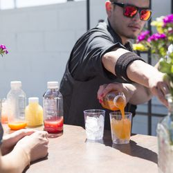 Guests loved Clover's Quench and Sunrise juices, both virgin and spiked.