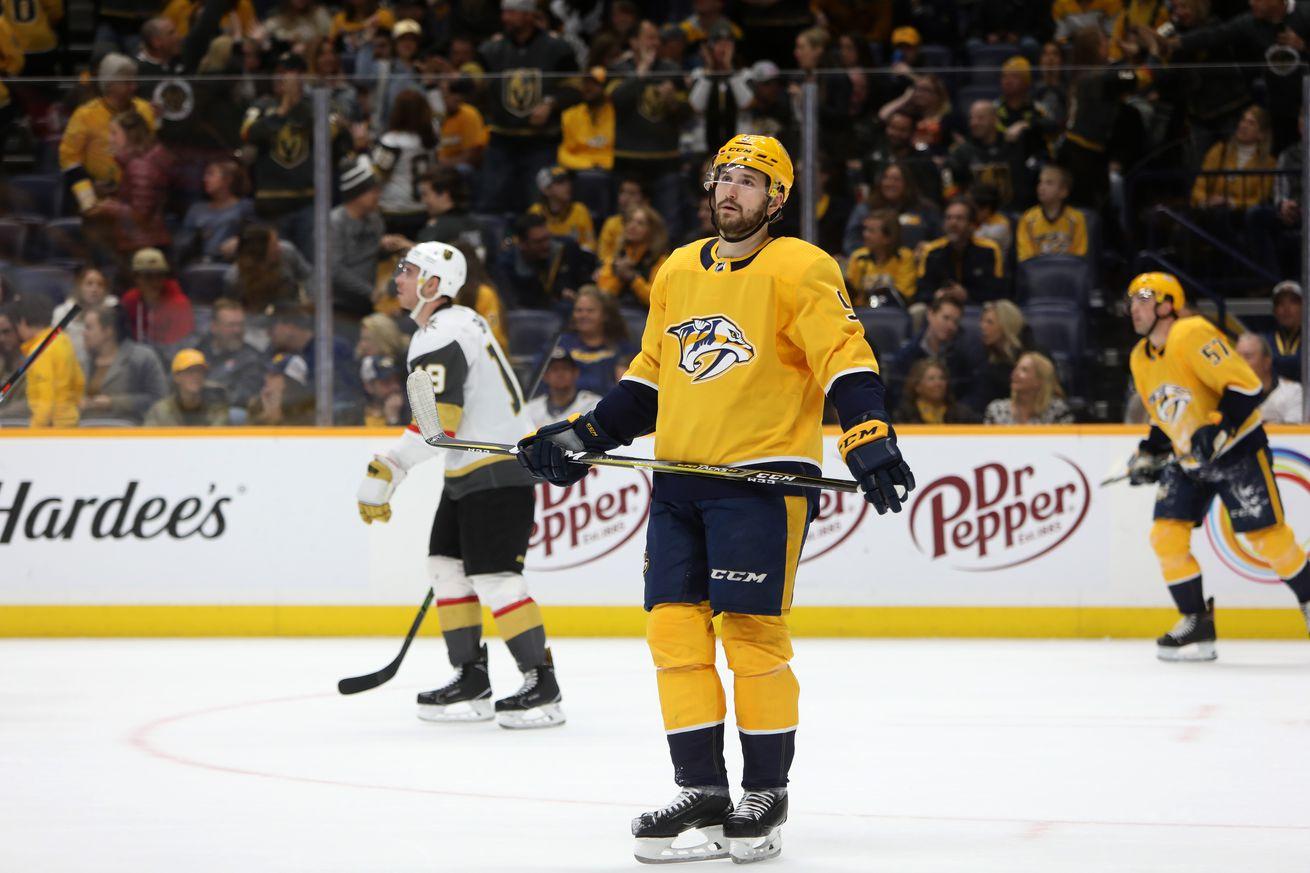 NHL: FEB 01 Golden Knights at Predators