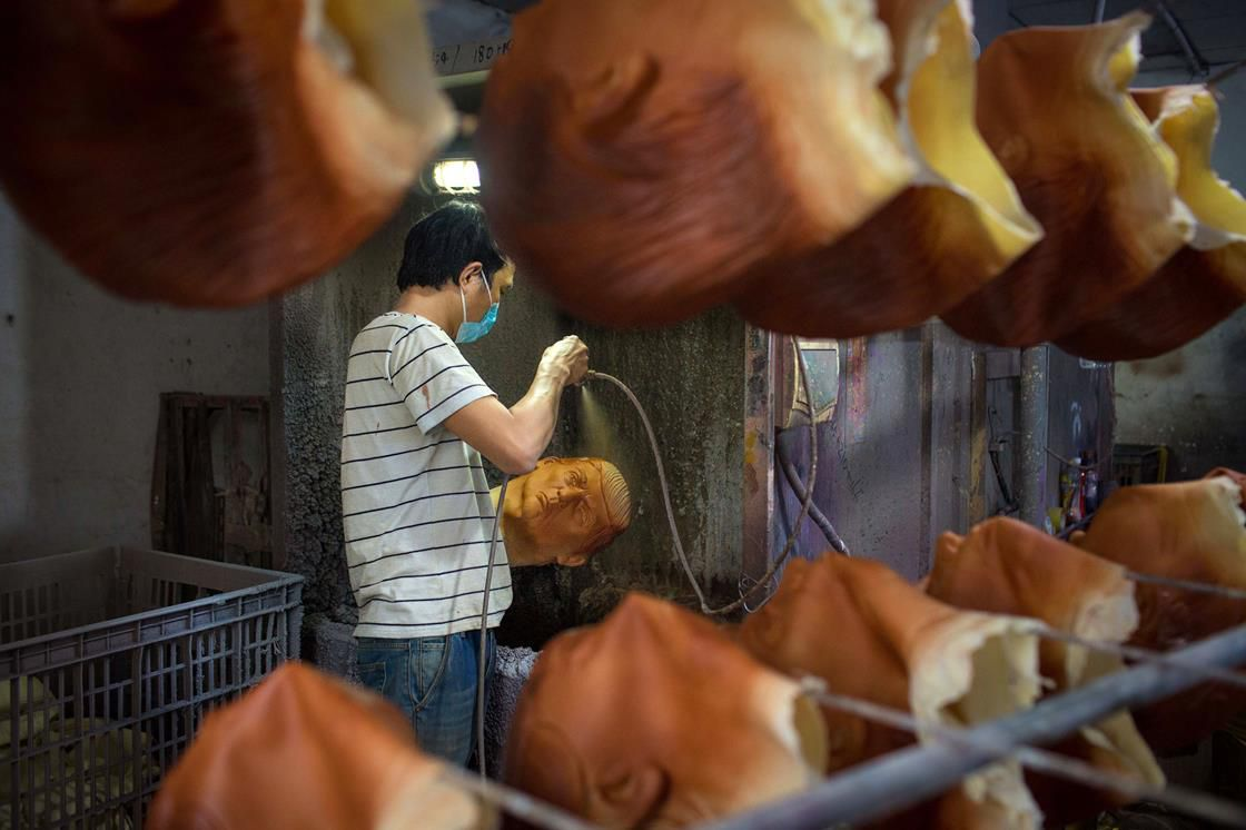 Factory worker in China