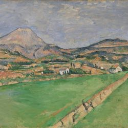 """""""Mont Sainte-Victoire"""" is one of 69 artworks by Paul CÉzanne included in the PBS documentary """"The Barnes Collection."""""""